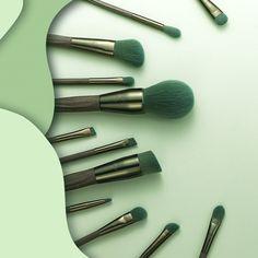 Brow Brush, Contour Brush, Eyeliner Brush, Eyeshadow Brushes, Makeup Brushes, Eye Makeup, Hair Makeup, Applying Highlighter, Brush Kit