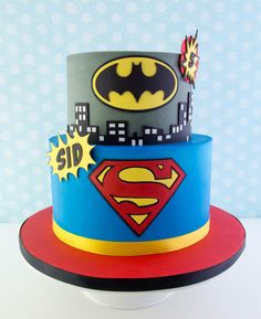 Double layer chocolate cake with chocolate buttercream and dark chocolate ganache. All decorations are made out of a mix of modeling chocolate and fondant. Superhero Birthday Cake, Boy Birthday, Birthday Cakes, Happy Birthday, Superman Cakes, Avenger Cake, Cake Online, Character Cakes, Modeling Chocolate