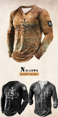 Up to 45% off! Men fashion long-sleeve T-shirt and accessories holiday sale for discount, free shipping on order $59. Shop now! #sale #men #outfits #accessories #shoes #shirt #tee #fall #winter #hoodie #tactical Save My Life, Long Sleeve Shirts, Shop Now, Men Shirts, Mens Fashion, Hoodies, Tees, Mens Tops, Fall Winter