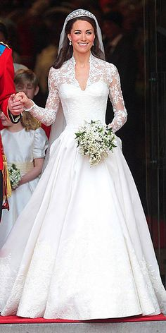 One year ago tomorrow I watched Kate walk down the aisle before going out and buying my own wedding dress!