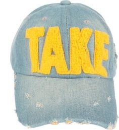 a923ff59527 Fashionable denim hat with Big letter embroidered in front   Denim Hat