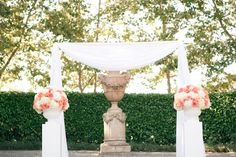 Ceremony pvc and white drapes!