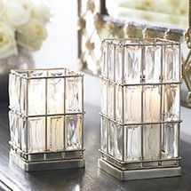 CUBED CRYSTAL CANDLEHOLDERS  $79.00