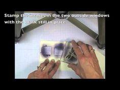 Gorgeous dragonfly Three-Windowed Card tutorial - YouTube