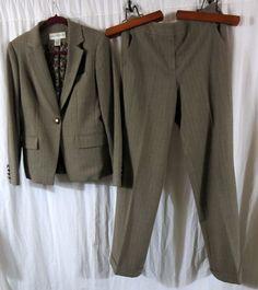 Jones New York 4 Brown Pant Suit #JonesNewYork #PantSuit