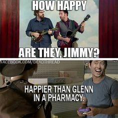 {Walking Dead} haha reallyy happier then Glenn..lol,lol???!?...cuz Glenn gets laiddd in a pharmacy..lol,lol!!!,! !!! ! !!! lols