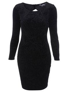 Petites Velvet Bodycon Dress - Dresses  - Clothing