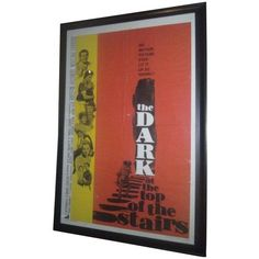 Movie Poster - The Dark at the Top of the Stairs ($399) ❤ liked on Polyvore featuring home, home decor, wall art, framed vintage posters, framed wall art, movie posters, vintage home accessories and graphic posters