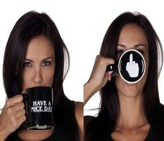 The Have A Nice Day Middle Finger Mug is the perfect gift for anyone who can appear to be so nice and polite, but you know that they really are a bit of a .