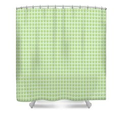 #stylish #fabrics #wall-covering #home-decor #art-prints #modern #traditional #cell-phone-cases #totes #bathroomdecor #bedroomdecor #notebooks Shower Curtain featuring the digital art Paw Designs-green by PageaRTwORKS