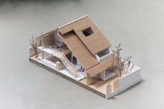 Gallery of Tile Roof House / atelier - 4 Landscape Architecture Model, Architecture Portfolio Layout, Architecture Drawing Plan, Architecture Model Making, Water Architecture, Conceptual Architecture, Architecture Sketchbook, Architecture Collage, Architecture Wallpaper