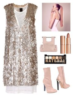 """""""Untitled #2811"""" by kotnourka ❤ liked on Polyvore featuring Vera Wang, Charlotte Tilbury, Alexander McQueen, NYX and Corto Moltedo"""
