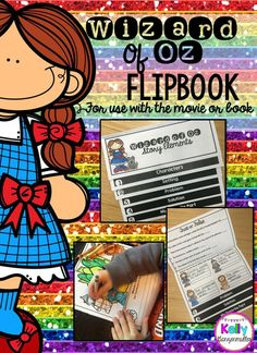 Engaging and interactive Wizard of Oz double sided flip book! Plenty of opportunities for students to demonstrate their knowledge of the book or movie!