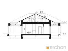 gotowy projekt Dom w alwach 6 przekroj budynku Pergola, Floor Plans, Outdoor Pergola, Floor Plan Drawing, House Floor Plans