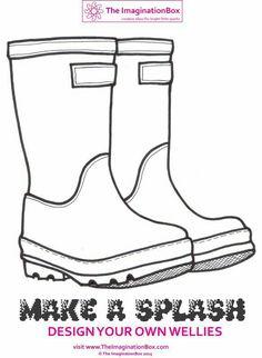 Rain boots template templates pinterest rain boot rain and similar ideas maxwellsz