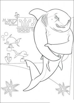 shark tale& coloring pages 02