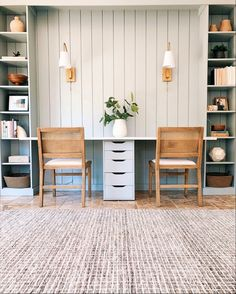 Home Office Space, Home Office Design, Home Office Decor, House Design, Home Decor, Office Nook, Office Designs, Office Built Ins, Built In Desk