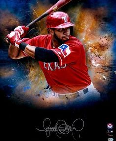 f6f6d5641e4 Elvis Andrus Texas Rangers Fanatics Authentic Framed Autographed x In Focus  Photograph- of a Limited Edition of 25