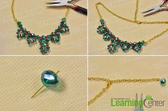 Finish the gold chain statement necklace