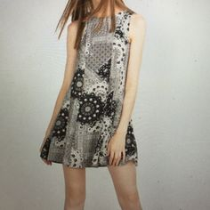 NWT Zara a line patchwork dress Never worn Zara dress. Great for summer. Keyhole opening at back just below a button closure. Loose fit would work for small and medium Zara Dresses Mini