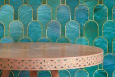 Nizwa wallpaper by Bethan Gray for NLXL with Paua  #motherofpearl #pink #pauashell #digitalwallpaper #wallpaper #nizwawallpaper #nlxl #shamsiancollection #aubergine #teal #jade #colourpalette  #bethangray