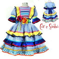 Vestido de quadrilha Festa Junina!