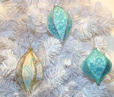 Christmas ornaments in Turquoise, Copper and Orange; TUTORIAL ADDED - OCCASIONS AND HOLIDAYS