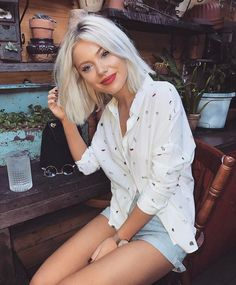 "10.9k Likes, 56 Comments - Laura Jade Stone (@laurajadestone) on Instagram: ""I'm all about a good white shirt Especially one that has cherries on it Wearing…"""