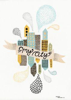My City #2 - Michelle Carlslund Illustration