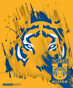 Tigres UANL of Mexico wallpaper. Sports Art, Sports Logo, Soccer Wreath, Mexico Wallpaper, Mexico Soccer, Football Mexicano, Tiger Art, Football Wallpaper, Sport