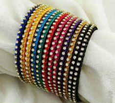 Women's Silk Thread Multicoloured Bangles by Veenapani - Online shopping for Bangles & Bracelets on MyShopPrime - Kundan Bangles, Silk Bangles, Bridal Bangles, Silk Thread Bangles Design, Thread Jewellery, Jewellery Diy, Fashion Jewellery, Gold Jewelry, Beaded Jewelry