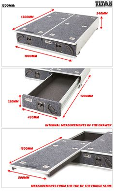 Titan Drawer System - 1300mm - Ute Drawer , 4WD & Outdoor Products - Australia