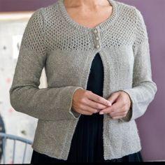 Tricoter un gilet court à manches longues pour femme