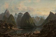 Isaac Whitehead Milford Sound, New Zealand 1878