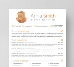 Resume Template No   Instant Download  Creative  Microsoft