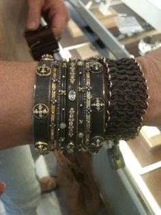 This stack of Armenta Jewelry bangles is insane! We love how our customers mix us in with other designer's baubles they own.
