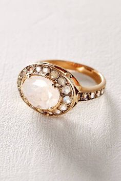 Moonstone and Labradorite Constellation Ring in 14k Rose Gold by Arik Kastan   Pinned by topista.com