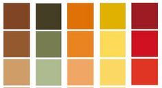 1930s Arts and Crafts Colors < note that several of these are echoes by the spring 2014 Pantone palette!