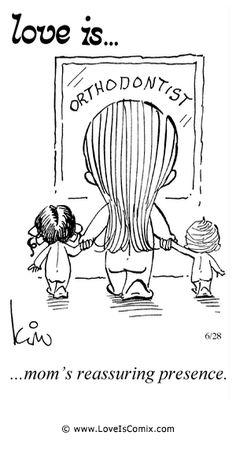 El amor es ... tranquilizadora presencia de mamá.