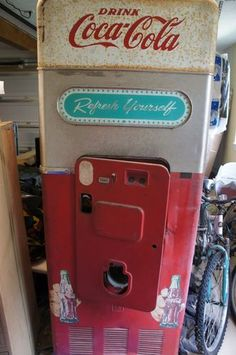 Vintage 1950's Coke Machine | eBay