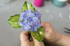 紫陽花(あじさい) | ディップアートの作り方 | トウペディップアート協会