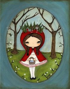 Fairy Tale PrintLittle Red Forest by thepoppytree on Etsy