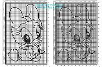 Copertina filet con Disney baby Paperina schema gratis da scaricare