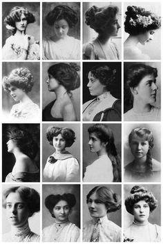 womens fashion – In the Edwardian era - Historical Fashion Victorian Era Fashion, Edwardian Era, Classic Hairstyles, Retro Hairstyles, Victorian Era Hairstyles, Historical Hairstyles, Hairstyle Names, Evolution Of Fashion, Hair Decorations