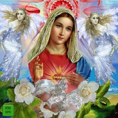 The perfect JézusAngyalokSzentekáldás Saint Roses Animated GIF for your conversation. Discover and Share the best GIFs on Tenor. Blessed Mother Mary, Blessed Virgin Mary, Fatima Prayer, Roses Gif, Archangel Prayers, House Of Gold, Jesus Photo, Mother Pictures, Zendaya Style