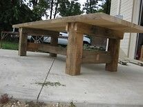"""10' long 2 1/2"""" thick trestle table"""