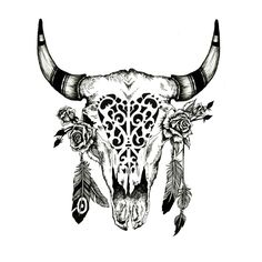 Cow Skull and Feather Image Design Dowload Free Image Tattoo Designs - FreeImageDesigns. Bull Skull Tattoos, Bull Skulls, Deer Skulls, Animal Skulls, Animal Skull Drawing, Animal Skull Tattoos, Future Tattoos, Love Tattoos, New Tattoos
