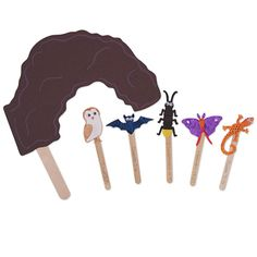 Let children tell their own stories or help teach the lesson of the day with stick puppets. Children will love decorating their own set.