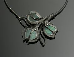 Katia Pflipsen Olivova - fire agate mixed metal necklace