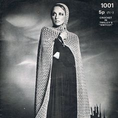 INSTANT DOWNLOAD  Fantastic Crochet Pattern to Print at home. No Postage Costs. Print and print again. This super pattern stems from the early 1970s and these cloak capes have been heavily tipped by the fashionistas!  Please see photos for further information on sizes, materials, tension etc.  ***SPECIAL OFFER *** ANY 3 PATTERNS *** $6 DOLLARS *** SEE FEATURED LISTING *** or use coupon code ANY3FOR6 when checking out.  All of my patterns are written in UK terms. When you purchase the…